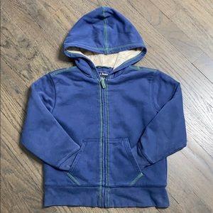 L.L. Bean Soft Fleece Pile Lined Hoody Sweatshirt